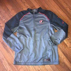 Nike Team Canada Hockey 1/4 Zip Shirt Size Large L